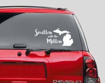 Michigan decal Smitten with the Mitten auto decal and more