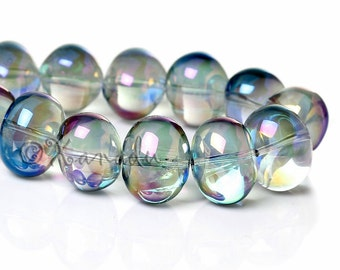 Aurora Borealis Glass Beads 16mm - 10/20/50 Wholesale Oval AB Finish Glass Beads For Jewelry Making G2995