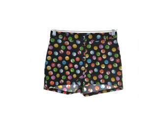 Onyx Womens Shorts W27 Multi Balls Print Polyester