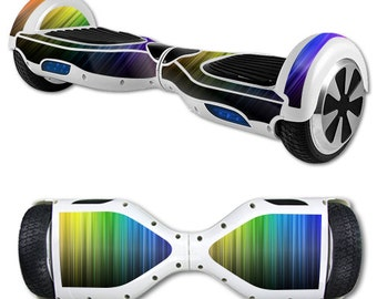 Skin Decal Wrap for Self Balancing Scooter Hoverboard unicycle Rainbow Streaks