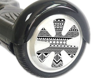 Skin Decal Wrap for Hoverboard Balance Board Scooter Wheels Black Aztec