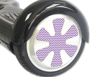 Skin Decal Wrap for Hoverboard Balance Board Scooter Wheels Lavender chevron