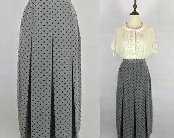 50% OFF FLASH SALE / Vintage Polka Dots Skirt / Office Skirt / High Waist Skirt / Made in Japan / Size Small Medium