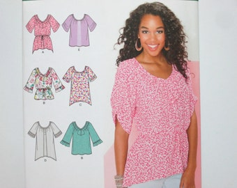 Simplicity 1915 ~ Boho Flowy Summer Tunic or Top SIZE 6 -14 UNCUT Sewing Pattern