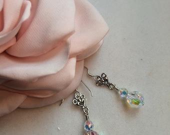 Swarovski Crystal Scroll Earrings