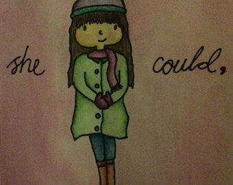 She believed she could so she did watercolour