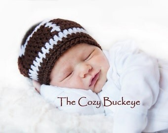 Crochet Football Hat Sizes Newborn - 1 year Photography Prop Halloween