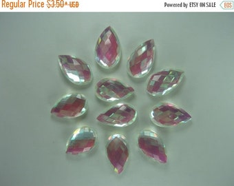 10% Off Loose Teardrop Mystic Crystal Topaz Briolette Beads