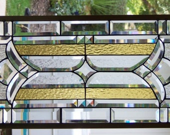 Stained Glass Window Hanging 37 1/2 X 14 1/2
