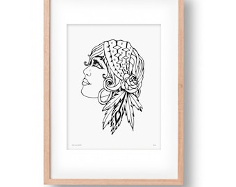 Gypsy Girl Wall Art Print
