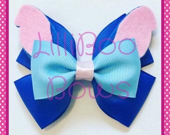 Handmade Stitch Lilo and Stitch Inspired Hair Bow