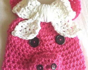 Miss Piggy Crochet Hat