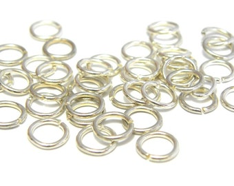 100x Silver plated Jump Rings 7 mm