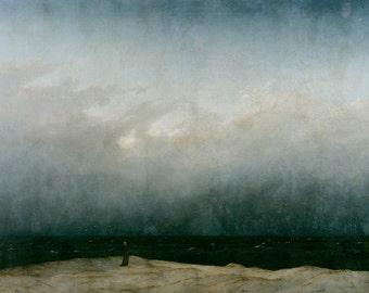 Caspar David Friedrich: The Monk by the Sea. Fine Art Print/Poster (003893)