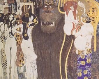 Gustav Klimt: Beethoven Frieze. Fine Art Print/Poster.