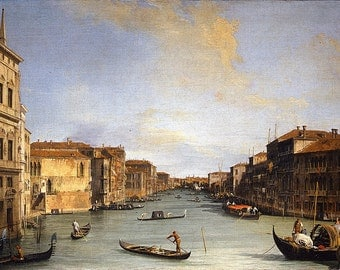 Canaletto: View of the Grand Canal. Fine Art Print/Poster. (003453)