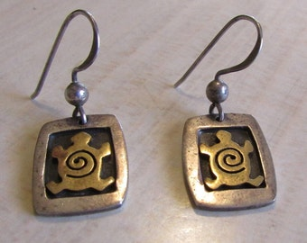 Sterling Silver Turtle Earrings from Far Fetched in Mexico