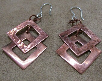 Dangle Wire Copper Earrings