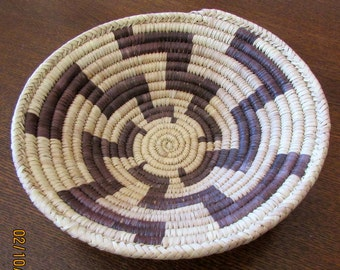 "Handmade Basket  8 1/4"" diameter x 2 1/4"" tall"