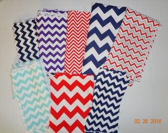 Assorted Grab Bag of Chevron Cotton Fabric Remnant Scraps