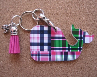 Wicket The Whale Tracey Gurley Acrylic Key Fob Keychain - Great Gift For Her!
