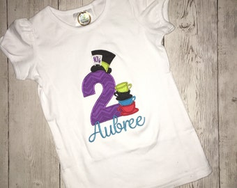 Mad Hatter Birthday Shirt or bodysuit
