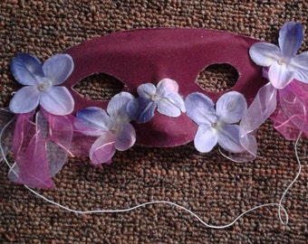 Maroon and Flowers half-face Mask