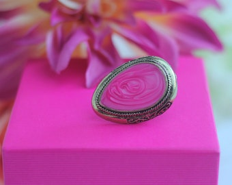 Lovely Pink Statement Ring