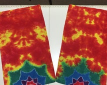 """2 Queen Pillow Cases Tie Dyed with Mandala Pattern 19"""" X 32"""""""