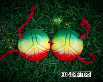 Peace Sign Rasta Bra - Other Colors Available!