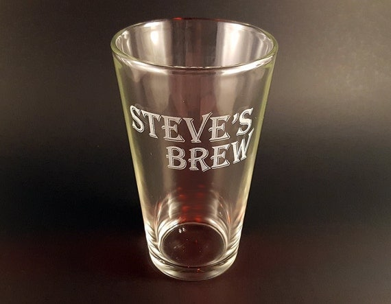 Engraved Wedding Beer Glasses : Engraved 16oz Beer Pint Glasses - Pint Glasses Beer Glass- Wedding ...
