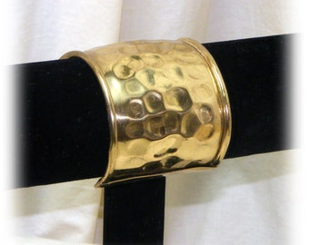 HAMMERED METAL CUFF Bracelet (gold plated) . . . Never Worn