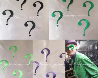 RIDDLER QUESTION MARK patches iron on adhesive