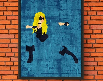 Minimalism Art - Black Canary Print