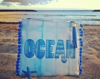 OCEAN  shibori dressing case