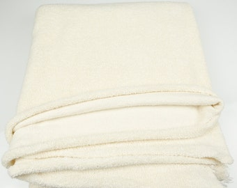 French Terry Knit Fabric High End Buttercream Thick Cotton 1 Yard and 30 Inches