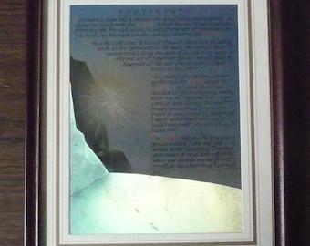 """Devotional Piece 'Footprints' - Framed  Dufex Foil Picture 10 3/4"""" x 8 1/2"""""""