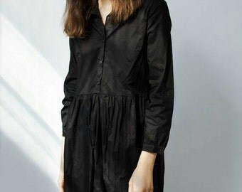 Rini Dress Black Dress, Buttoned Dress, Shirt Dress