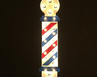 "30"" Barber Pole Marquee Light"