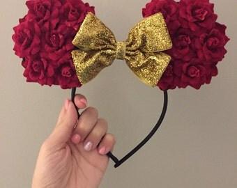 Rose Mickey Ears Headband