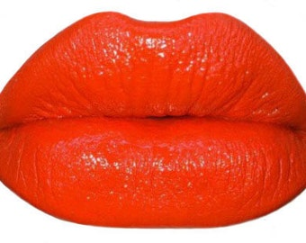 Orange Lipstick-Bright Orange  Crème Lipstick Flashy