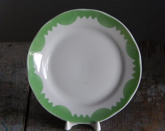Riga Porcelain Factory Plate Vintage Dessert Plate Salad Plate, Tableware Serving Dish Faience Plate from 1970 s. RPR