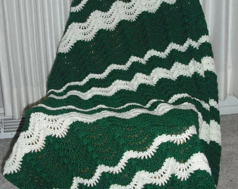 Green and White Waves