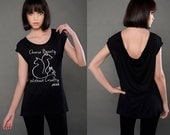 FTLA Apparel - Eco MicroModal® Fine Jersey Cap Sleeve Drop Back Tee - Choose Beauty Without Cruelty