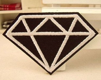 Diamond patch embroidered patch iron on patches