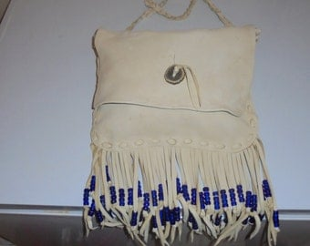 Deer hide leather purse or pouch