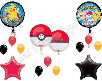 Orbz POKEMON GO 14 piece Birthday Party Balloons Decoration Supplies Pikachu Game