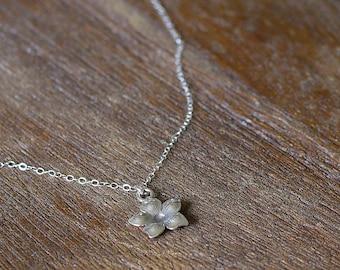 Flower Necklace, Simple Necklace, Delicate Necklace