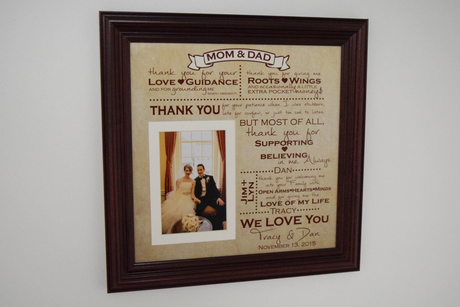 Thank You Gifts For Parents At Wedding: Thank You Wedding Parents Gifts Parents Gift Grooms Parents