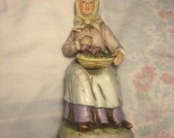 Homco Old Woman Figurine